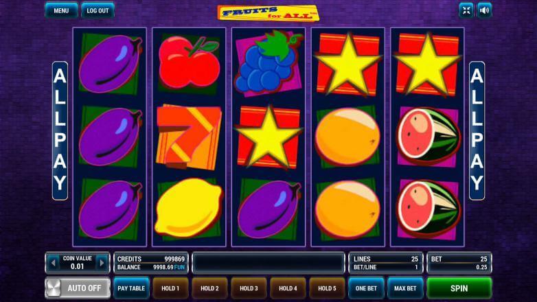 Изображение игрового автомата Fruits For All 2