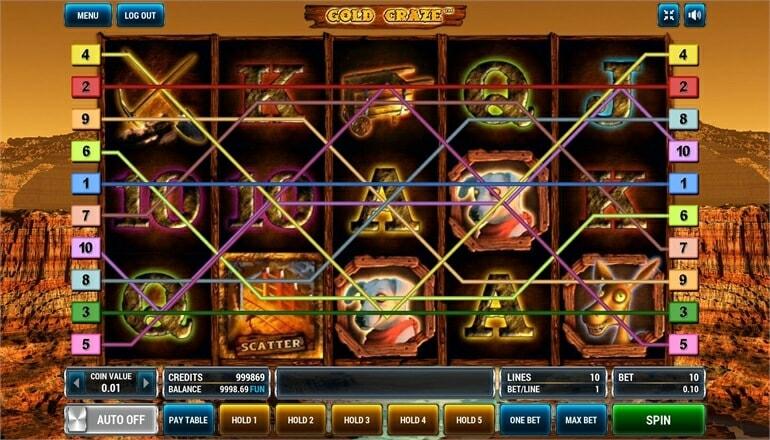 Изображение игрового автомата Gold Craze 1
