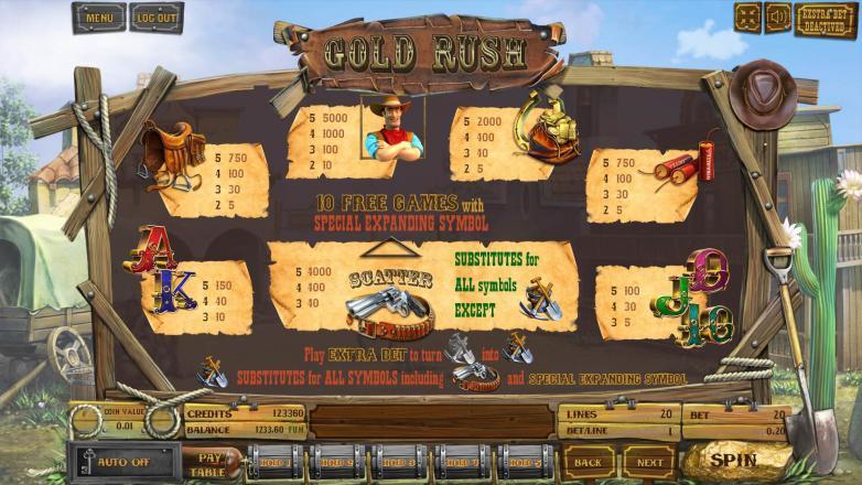 Изображение игрового автомата Gold Rush 3