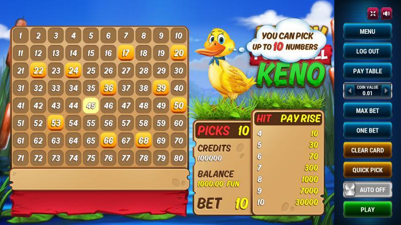 Изображение игрового автомата Keno Powerball 2