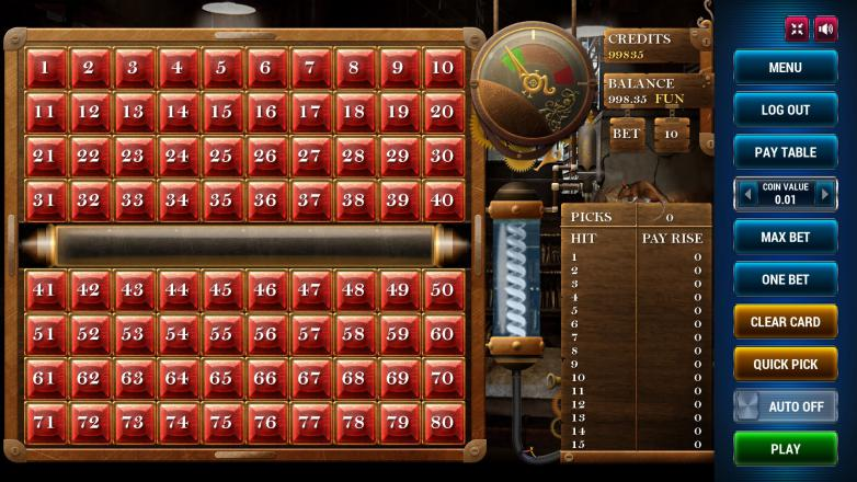 Изображение игрового автомата Keno Steampunk 15 1