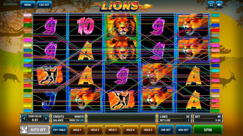 Изображение игрового автомата Lions 1