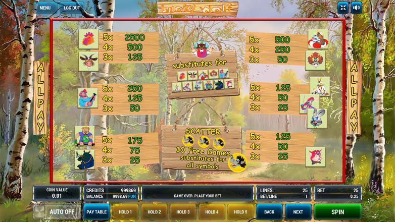 Изображение игрового автомата Lucky Wolf 3