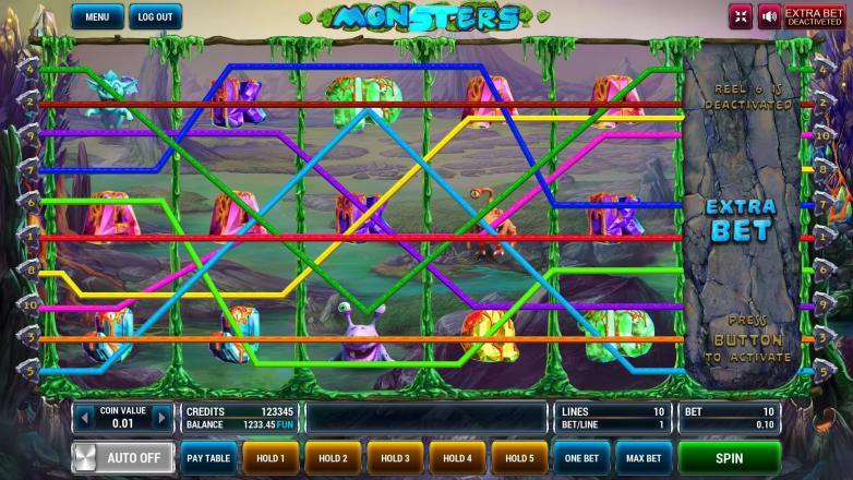Изображение игрового автомата Monsters 1