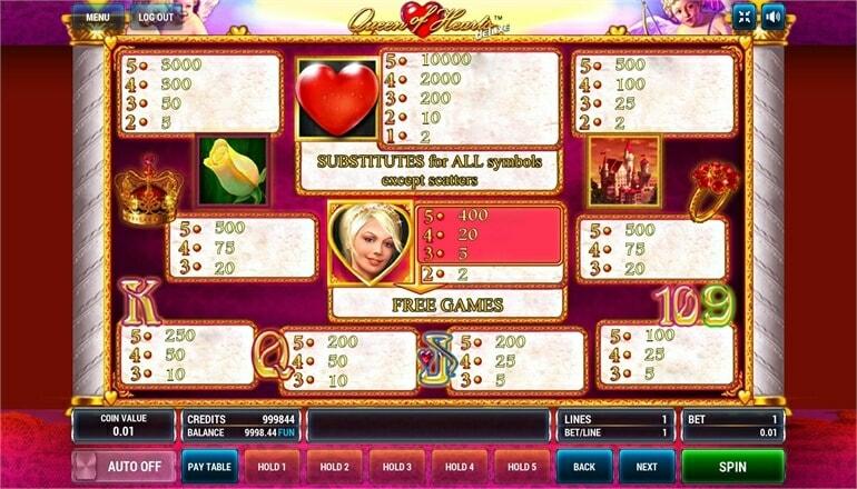 Изображение игрового автомата Queen of Hearts Deluxe 3